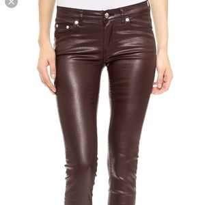 BLK DNM coated empire red jeans